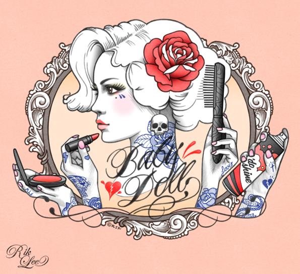 Baby doll rik lee for Pin up tattoo flash